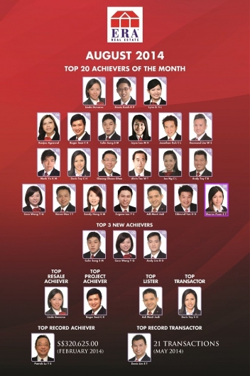 ERA TOP 20 ACHIEVER AUGUST 2014